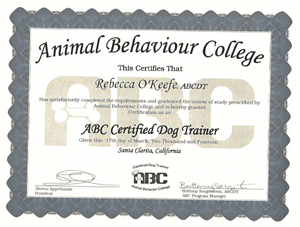 ABC Certified Dog Trainer March 2014