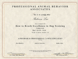 How to Reach Excellence in Dog Training May 2014